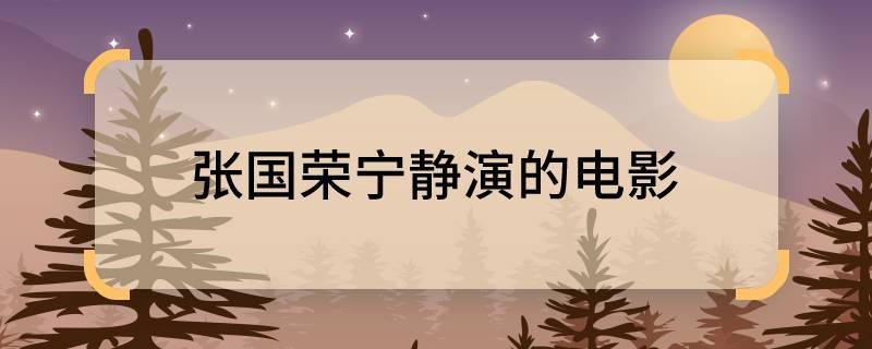 张国荣宁静演的电影 张国荣宁静主演了什么电影